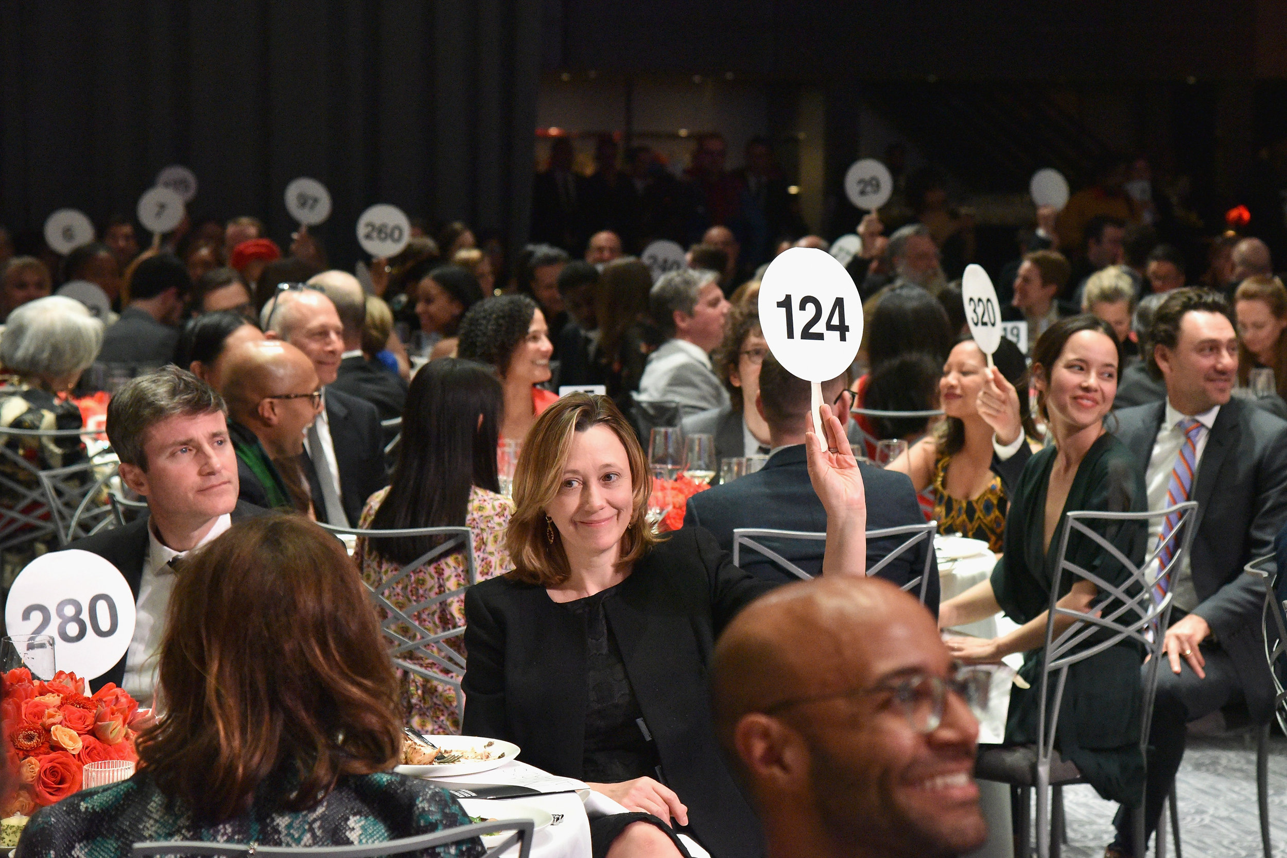 NEW YORK, NY - APRIL 02: Guests participate in fundraiser during The International Center Of Photography's 35th Annual Infinity Awards at The Ziegfeld Ballroom on April 2, 2019 in New York City. (Photo by Bryan Bedder/Getty Images for International Center of Photography)