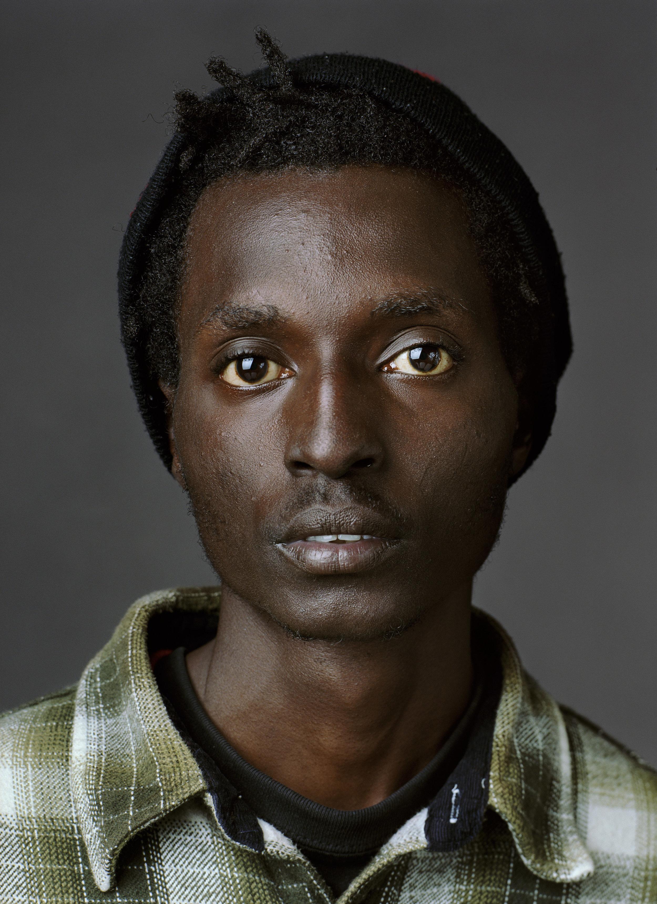 Knitzer (b. Nairobi, Kenya, 1987), photographed in Atlanta GA., april 2011. © Jan Banning