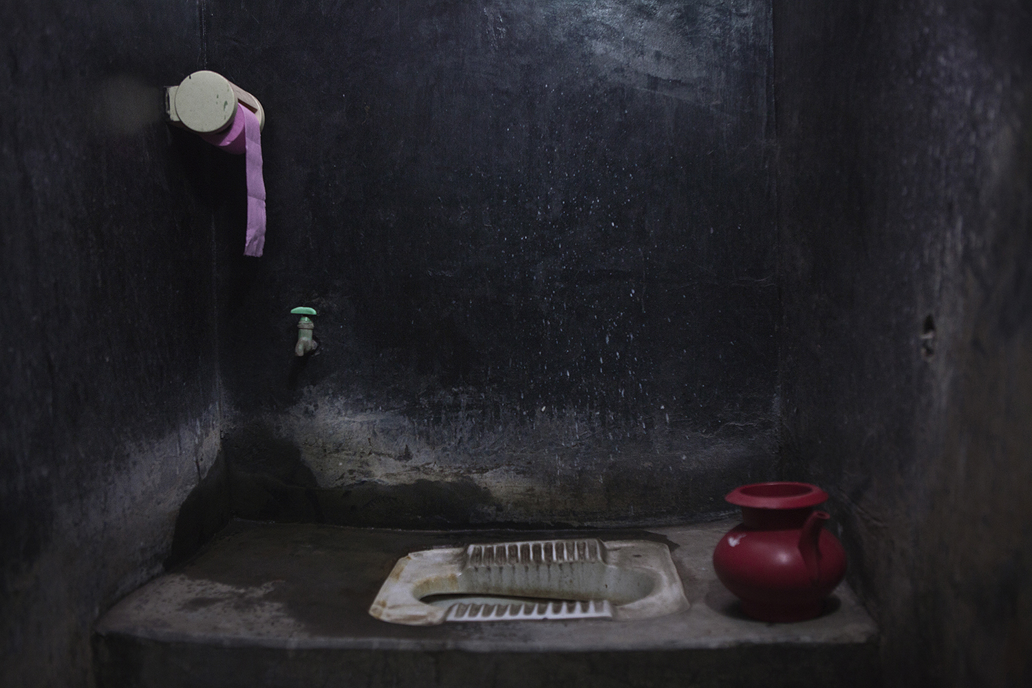 The bathroom at Sohag's house. Dhaka city. © Raffele Petralla