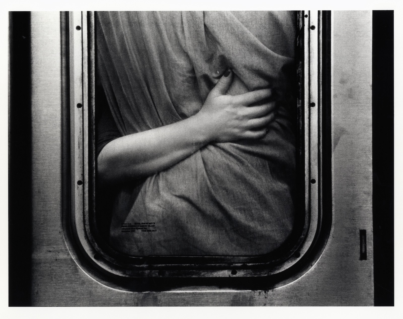 "© Kazuo Sumida. New York Subway, West 28th Street, 1995. Gelatin silver print, 11 x 14"" edition of 15. Courtesy of Julie Saul Gallery, New York"