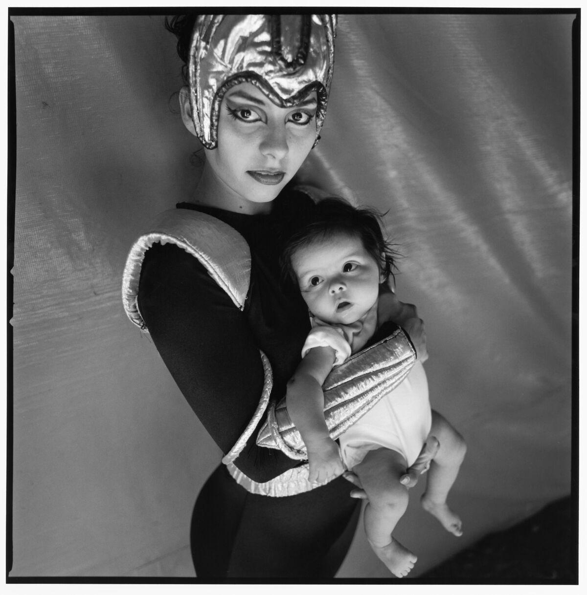 "Circus Baby , silver gelatin print, 24 x 24"", 2001"