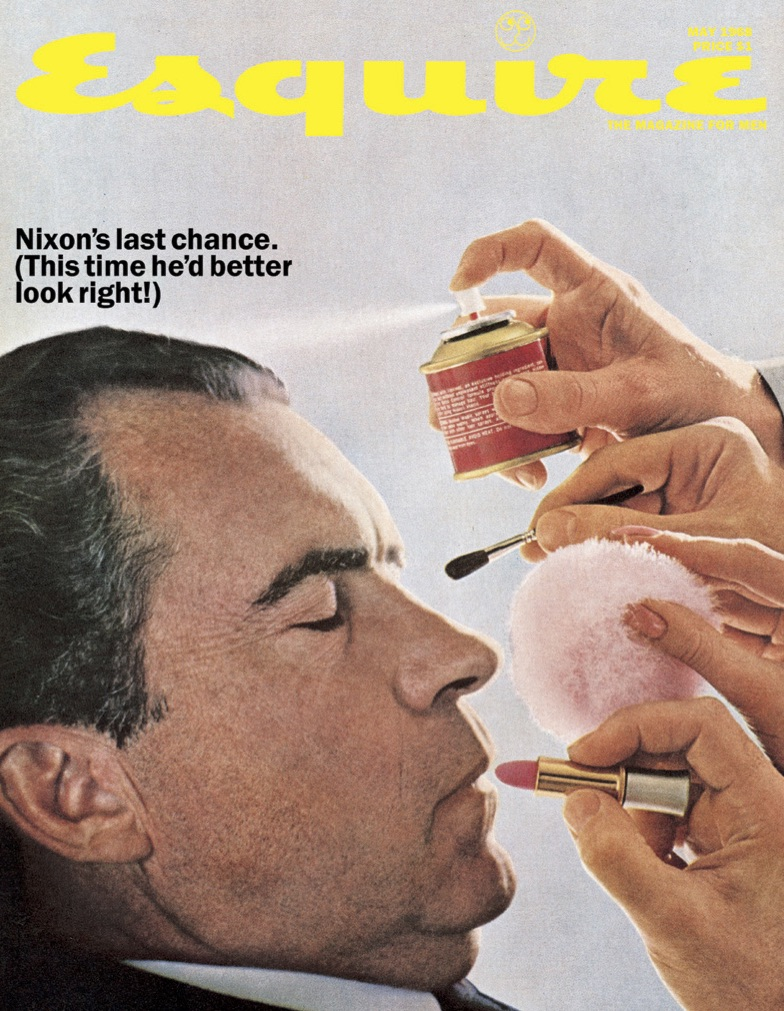 George Lois,  Nixon's Last Chance, Esquire Magazine.  May, 1968. Courtesy of George Lois and Carl Fisher