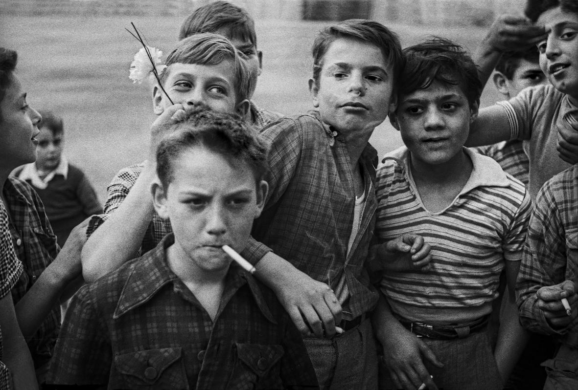 """Ken Van Sickle, """"Les Garcons"""", 1955."""