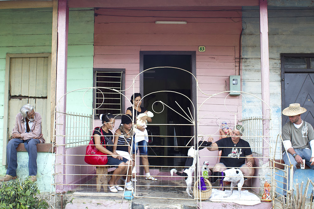 "© Hilary Duffy, ""Porch Sitters.""  Hope & Dreams from Cuba  by Hilary Duffy"