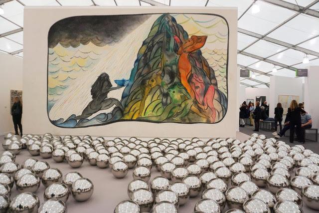 Yayoi Kusama and Chris Ofili. David Zwirner Gallery