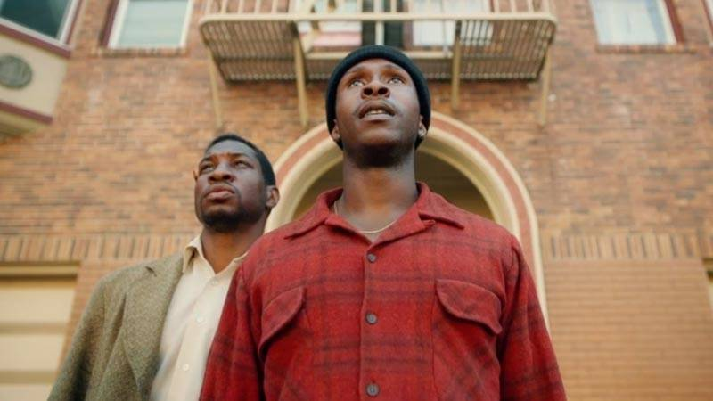Jonathan Majors and Jimmie Fails in  The Last Black Man in San Francisco.