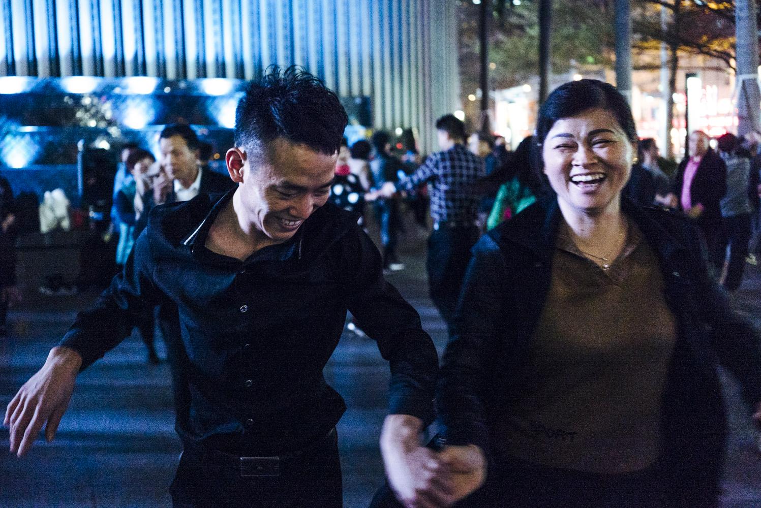 Dancing after dark. Shenzhen, China © An Rong Xu