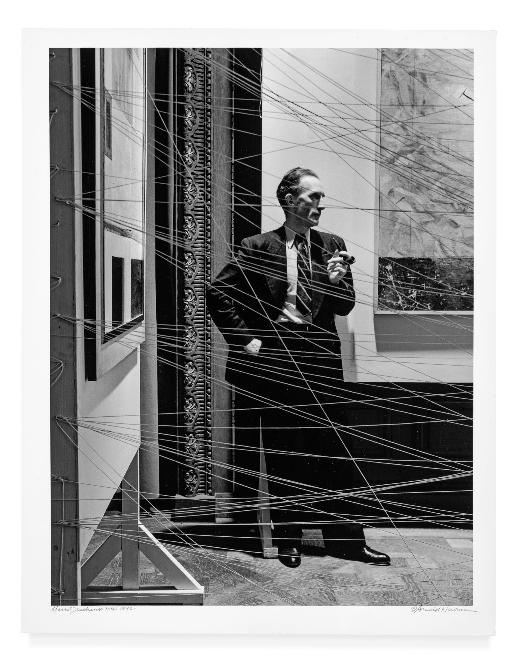 """Marcel Duchamp from """"Seeing Arnold Newman"""" published by Radius Books © 2018"""
