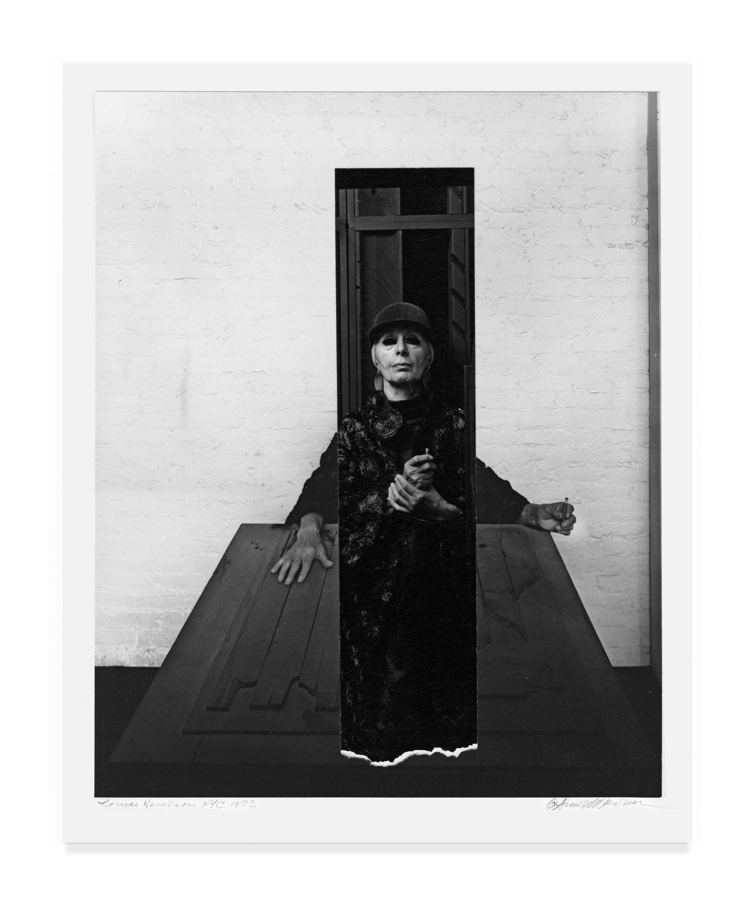 """Louise Nevelson (collage) from """"Seeing Arnold Newman"""" published by Radius Books © 2018"""
