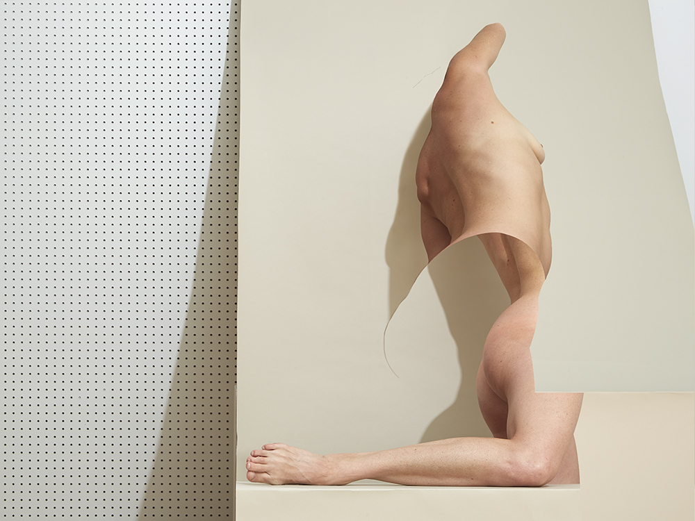 Figure, Suede Gray and Pegboard 2017 © Bill Durgin