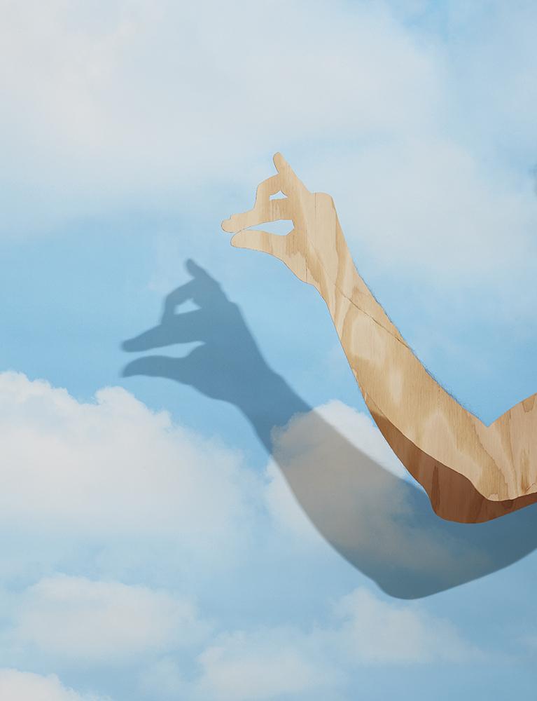 Shadow Puppet, Cloud Wallpaper 2016 © Bill Durgin