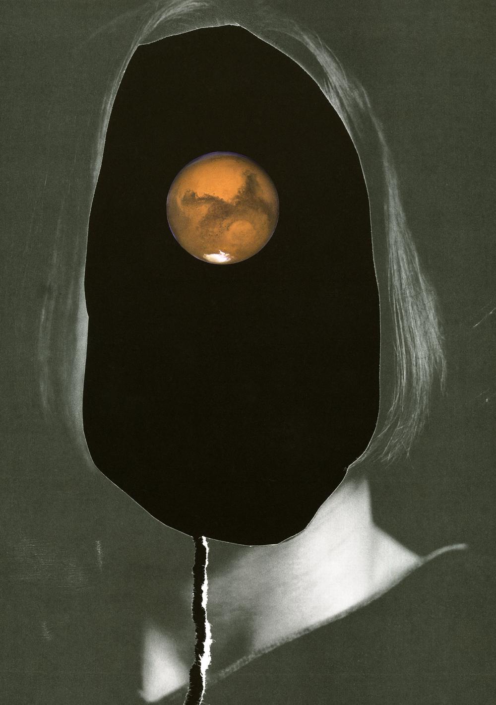 Face , inkjet print of a handcut collage, 2010, Courtesy of Elizabeth Zvonar