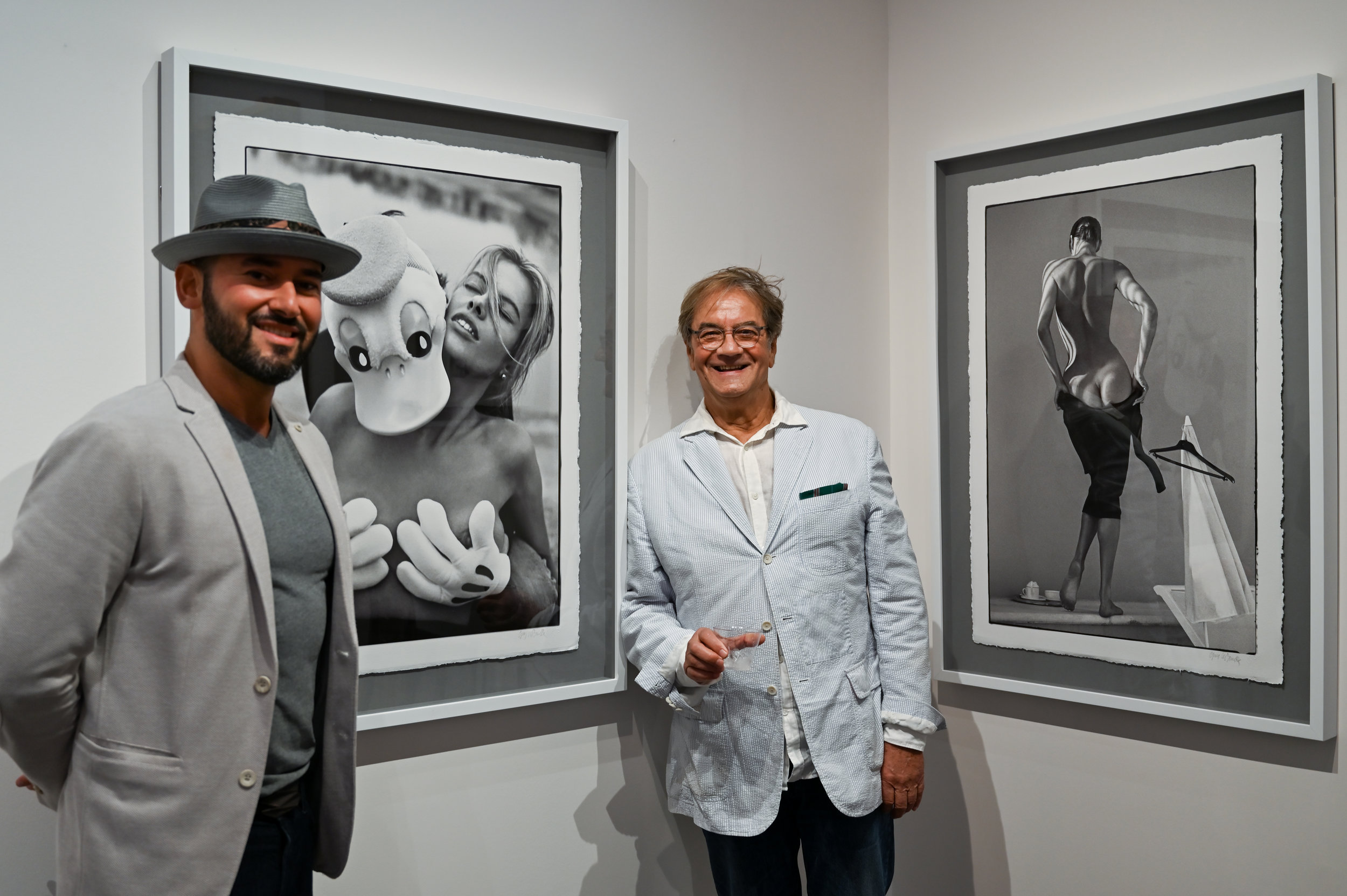 Dmitry Prut, Founder and President of Avant Gallery, with Guy Le Baube. © Federica Belli
