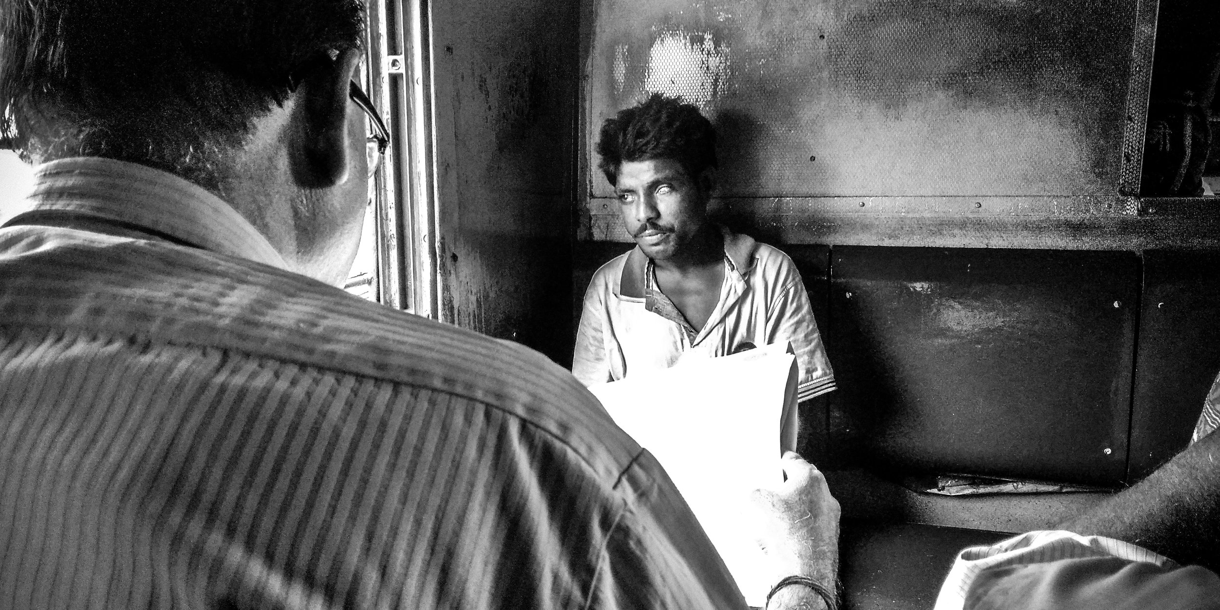 An one-eyed man going for routine checkup. Date: 6 July, 2019  Location: Krishnanagar, West Bengal 741101, India