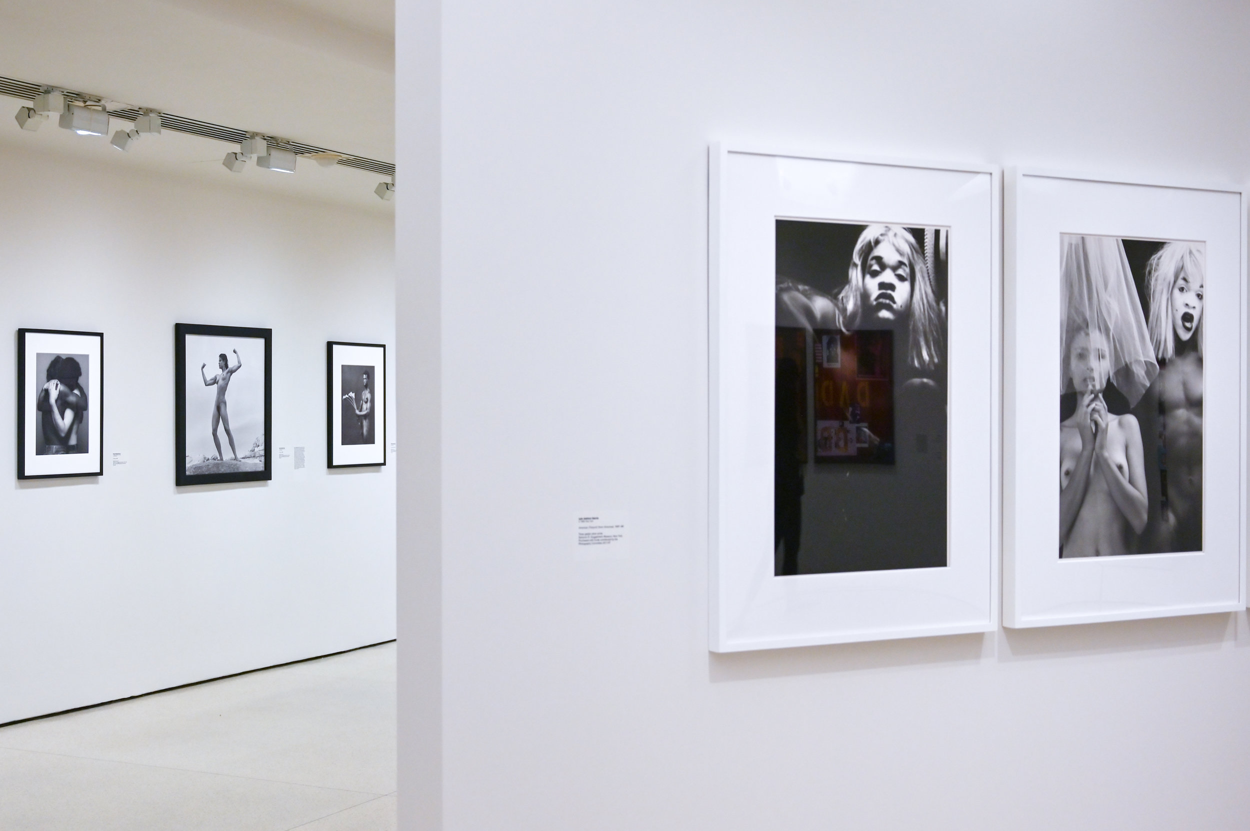 On the left side, Mapplethorpe's work. On the right side, Lyle Ashton Harris' pictures. © Federica Belli