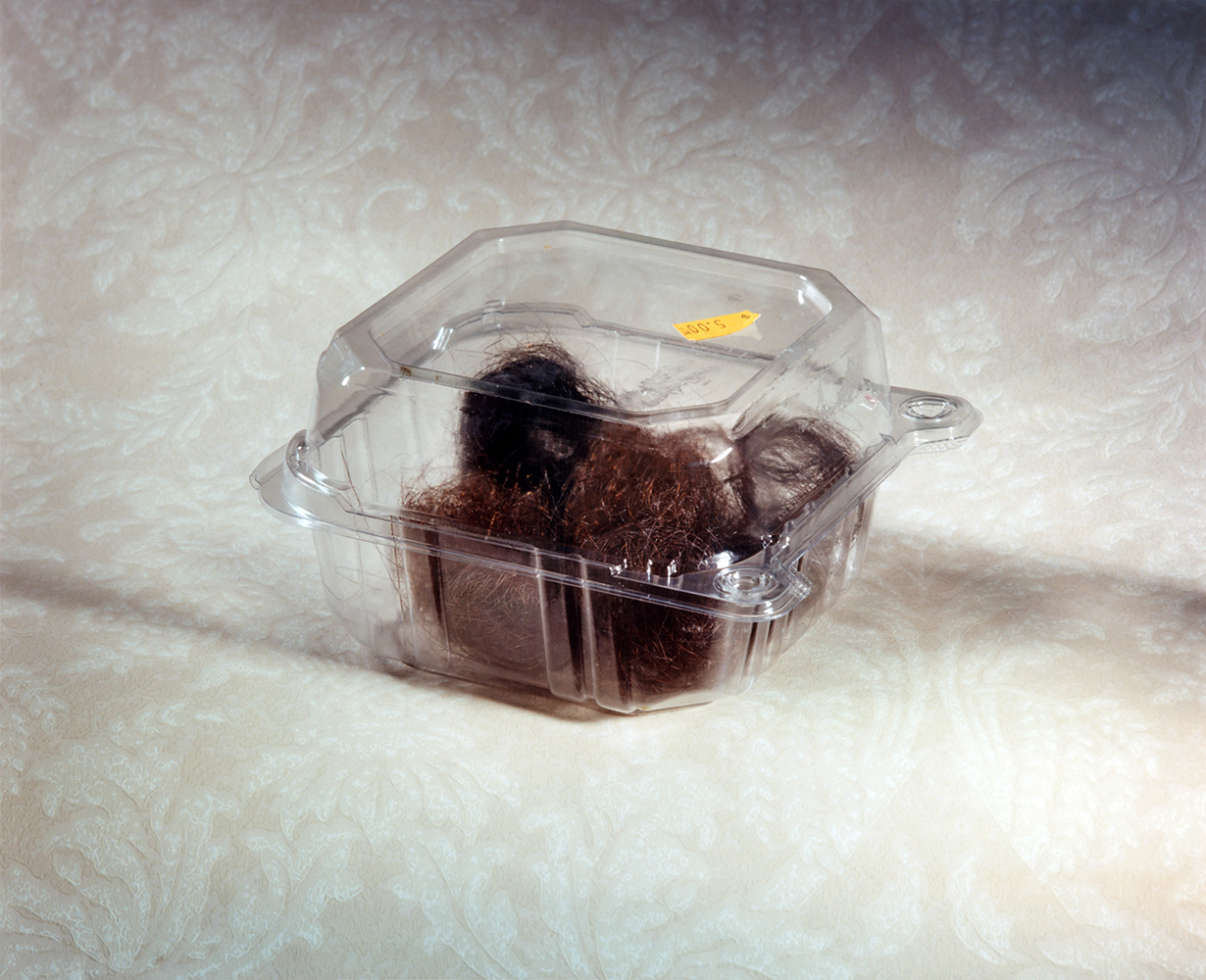 """""""Hair in a Container"""" 2017, C-print © Ashley Miller"""
