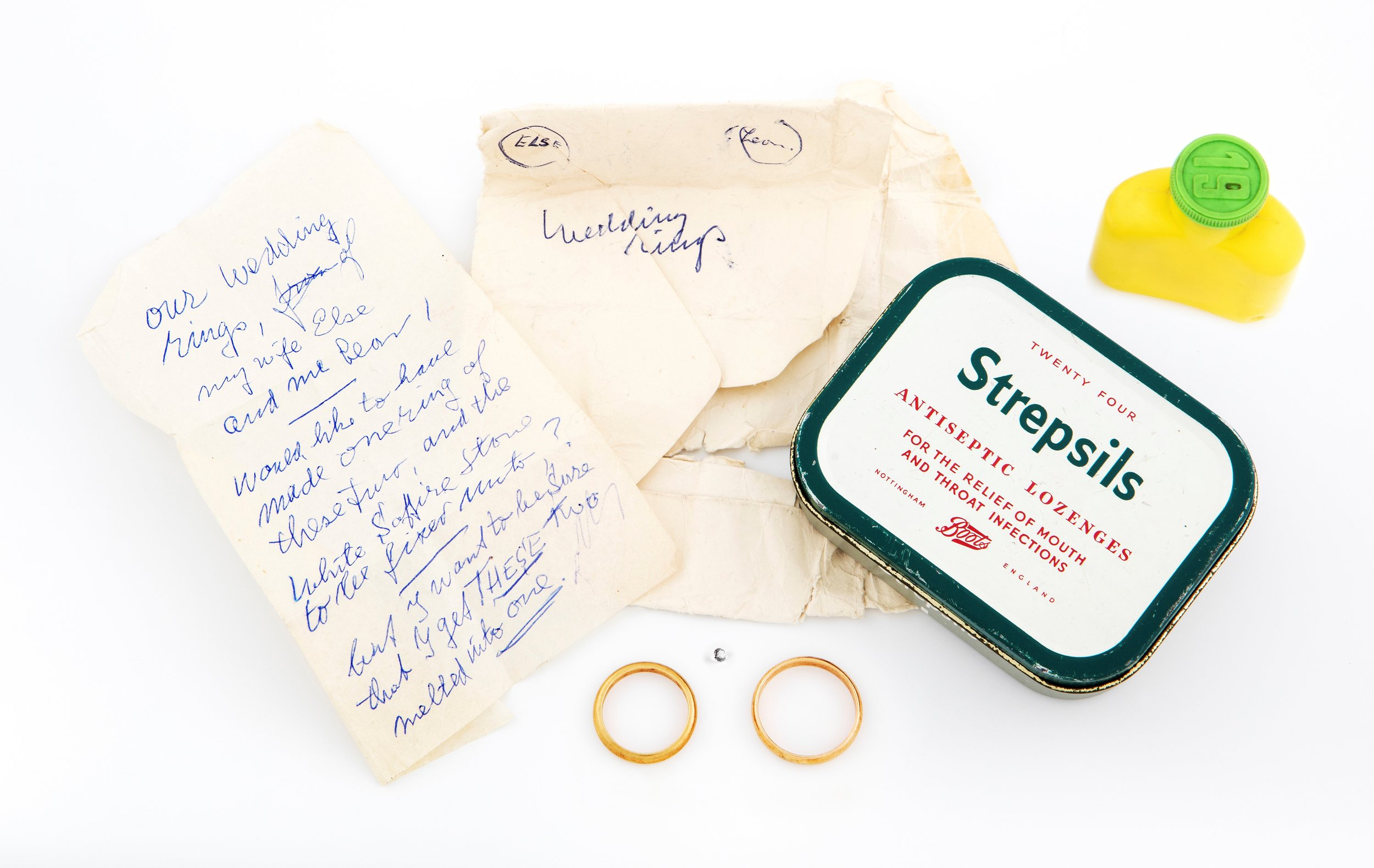 Greenman family and wedding rings, Ruth-Anne Lenga, UK (personal collection)