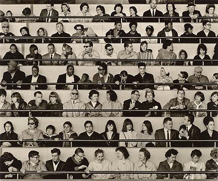 Bob Adelman (American, 1930-2016),  Peoples' Wall,  World's Fair, New York, 1965. Gelatin silver print. Purchased as the gift of Burton and Nancy Staniar. 2015.131, The Morgan Library & Museum. © Bob Adelman Estate