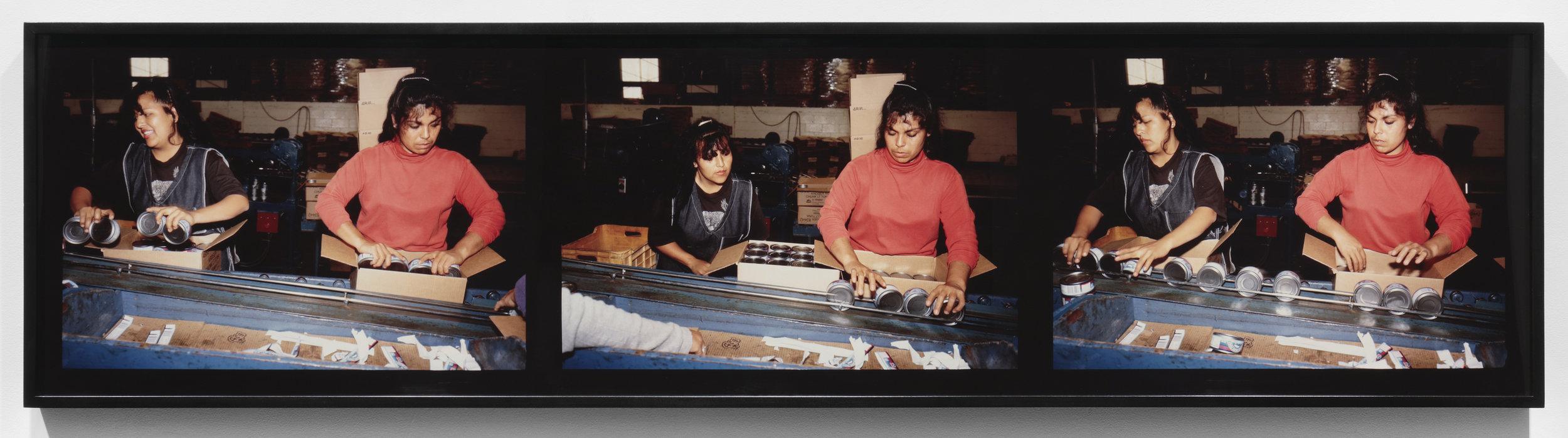 "Cannery, Sanzal from ""Dead Letter Office"", 1996-1997 [Enlatadora de atún, Sanzal.] Triptych; cibachrome prints Frame: 19 7/8 x 78 1/4 x 2 1/2 in. (50.5 x 198.8 x 6.3 cm) (22685)"