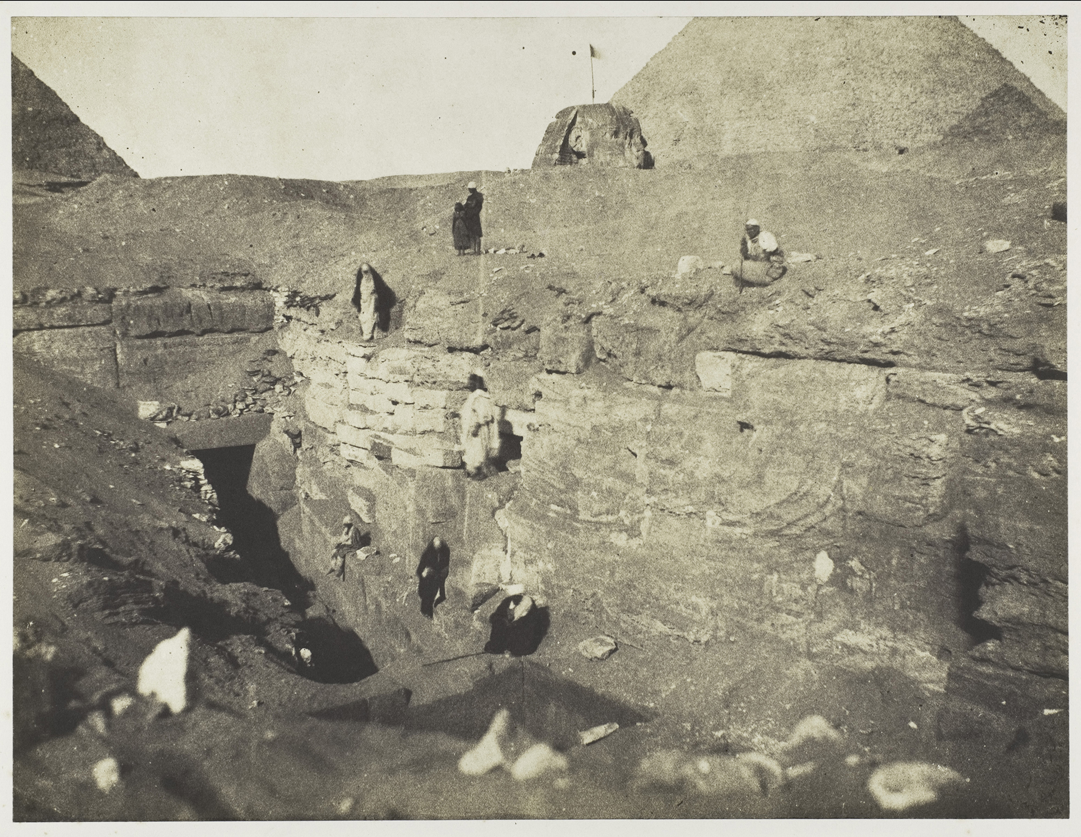 John Beasley Greene,  Pyramids of Giza. [Mr. Mariette's site]. Excavation to the left of the Sphinx , 1853; The Metropolitan Museum of Art, New York, Gilman Collection, Purchase, Ann Tenenbaum and Thomas H. Lee Gift, 2005