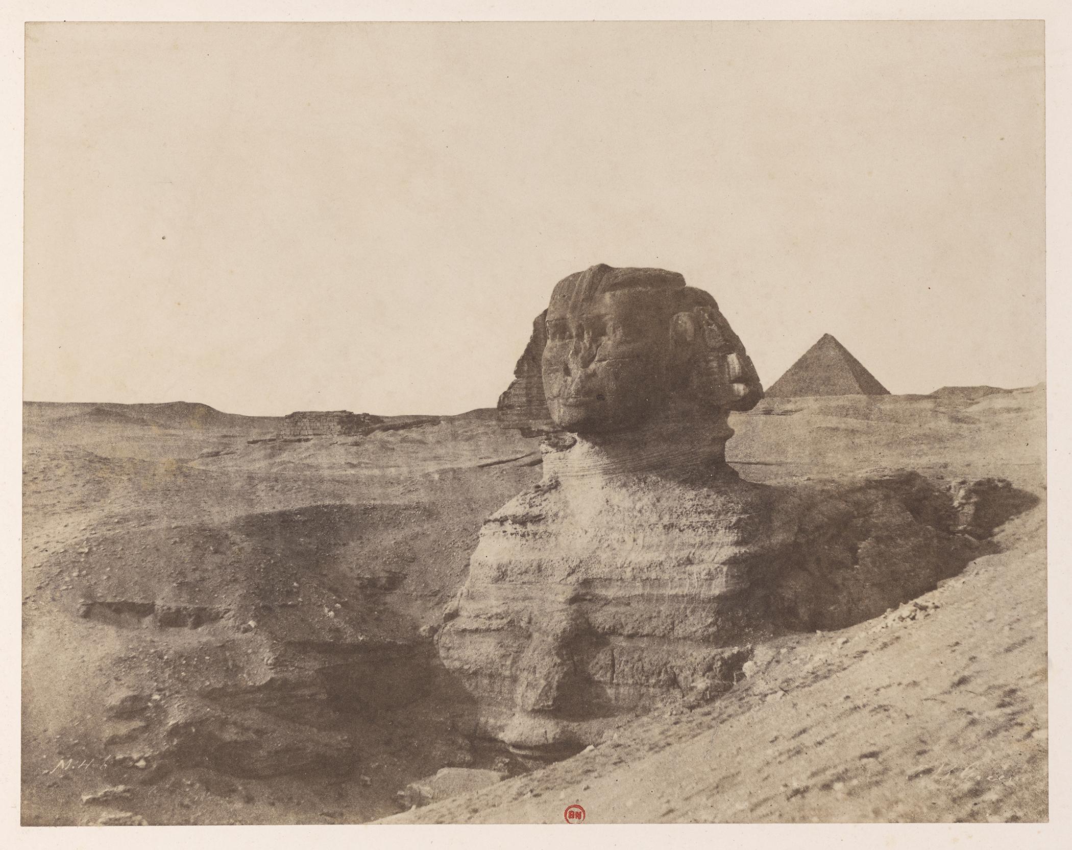John Beasley Greene,  Giza. Sphinx , 1853–54; Bibliothèque nationale de France