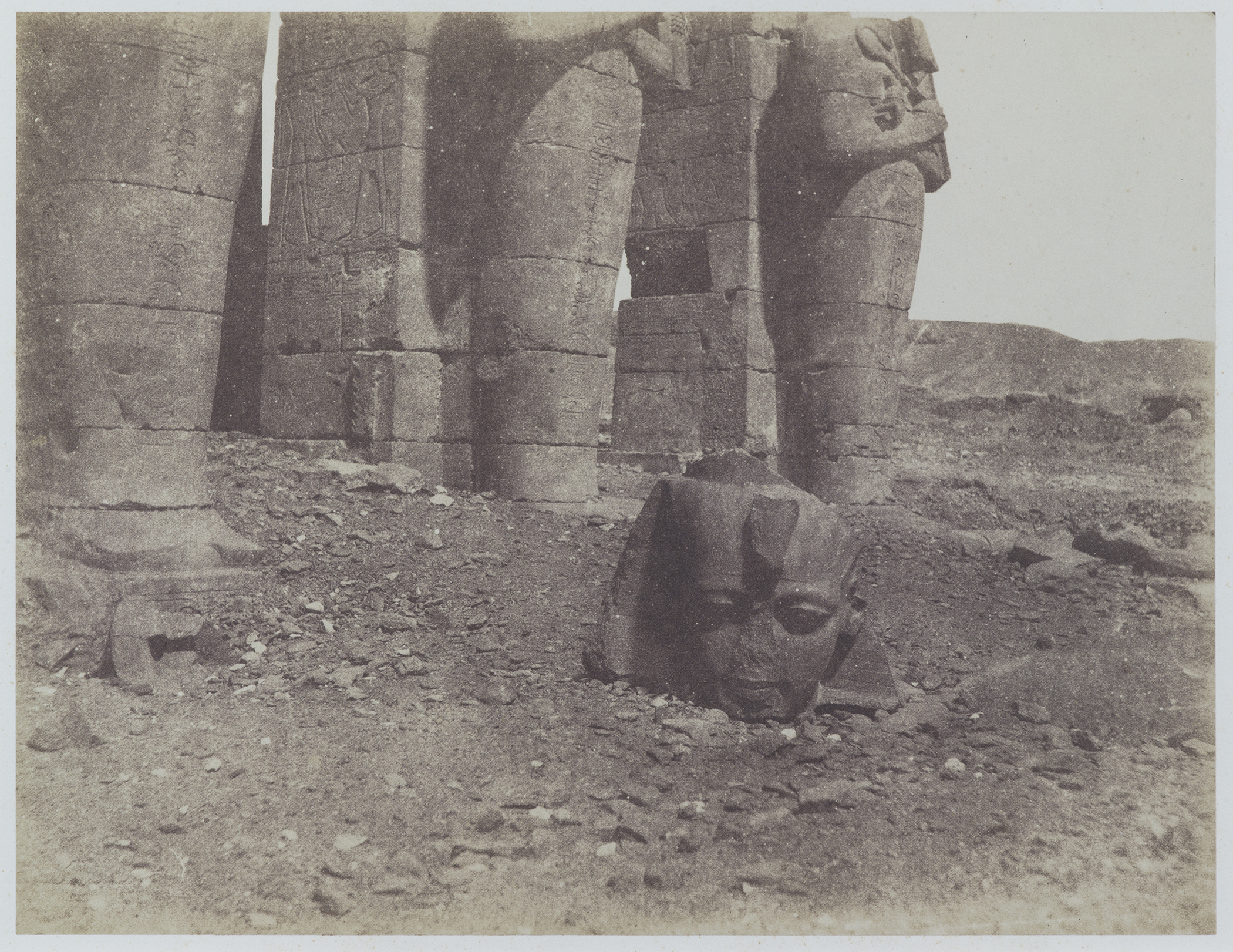 John Beasley Greene, [Ramesseum, with the head from a colossus of Ramesses II], 1854–55; collection of Richard and Ronay Menschel