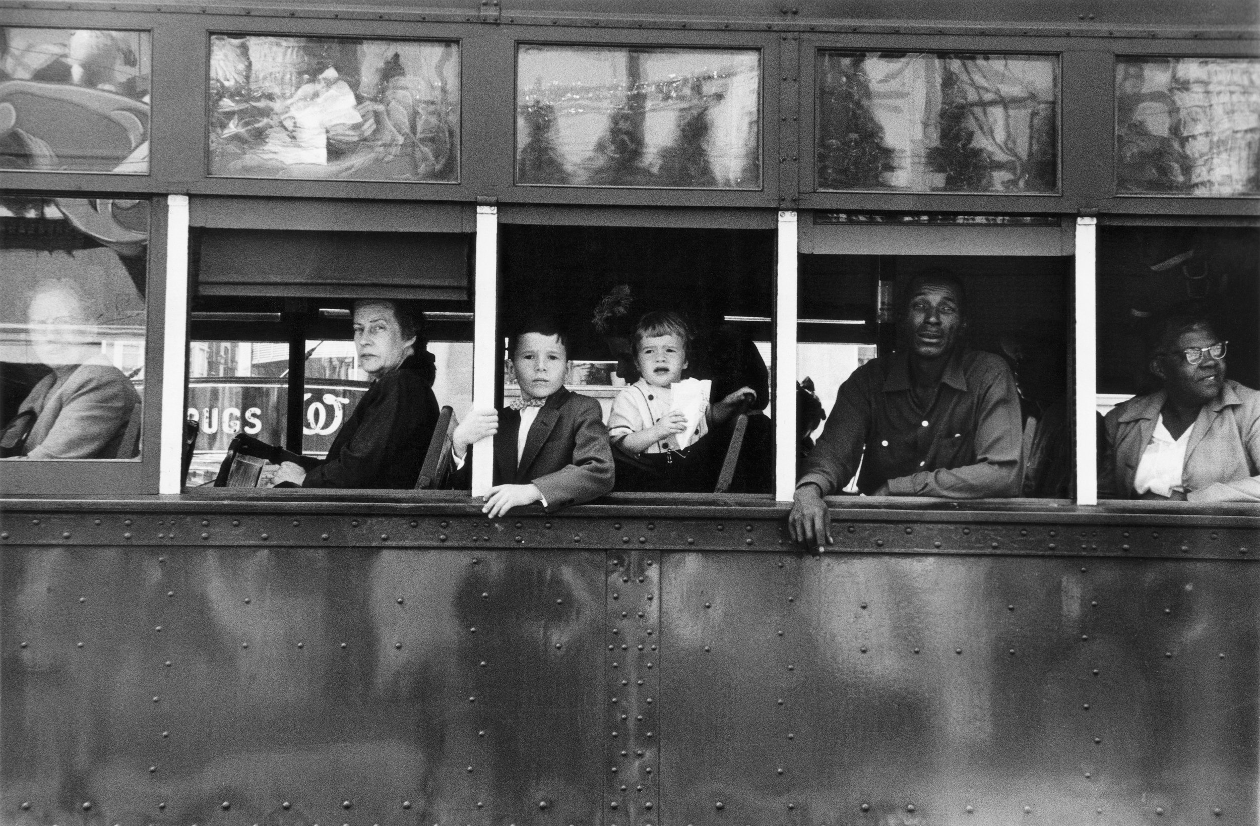 Trolley – New Orleans, 1955 © Robert Frank from The Americans, courtesy Pace/MacGill