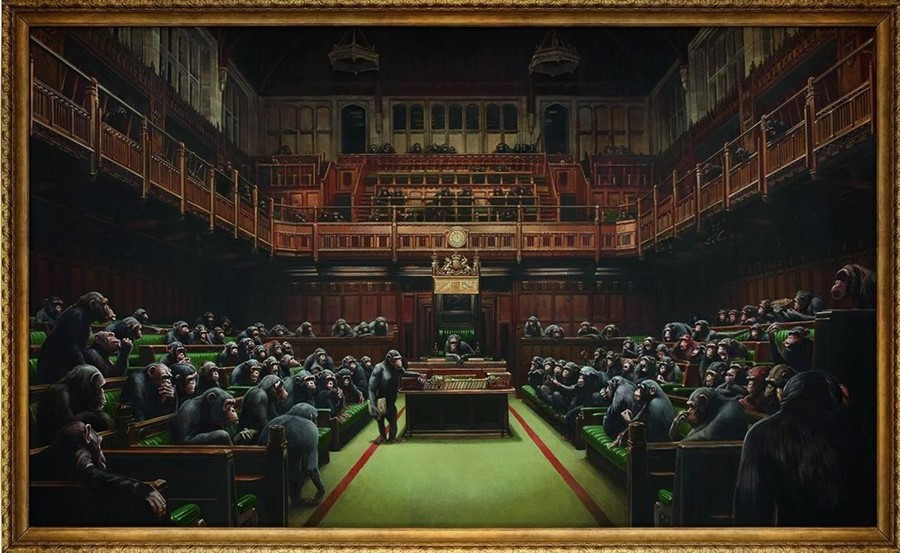 Banksy, 'Devolved Parliament' (2009).