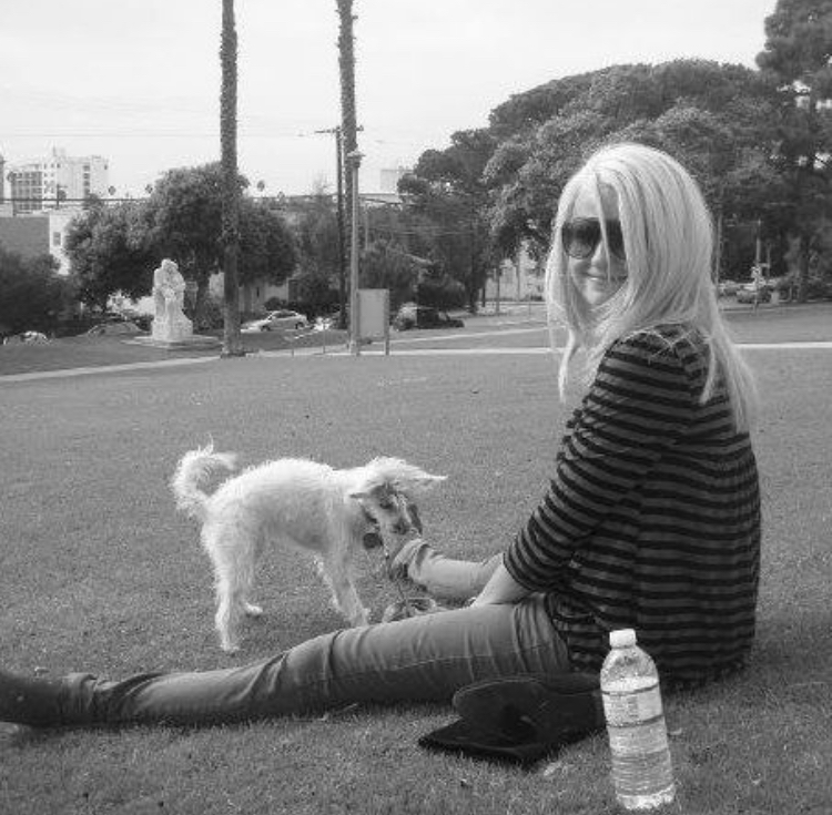 Cookie and I at Hotchkiss Park in Santa Monica in 2009.