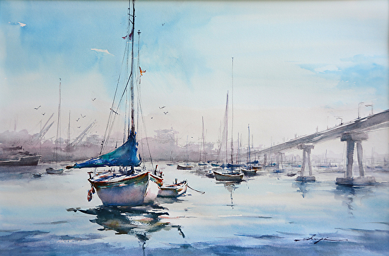 Watercolor Workshop with Shuang Li  August 17-19, 2016 Hampton Inn and Suites in Folsom, California