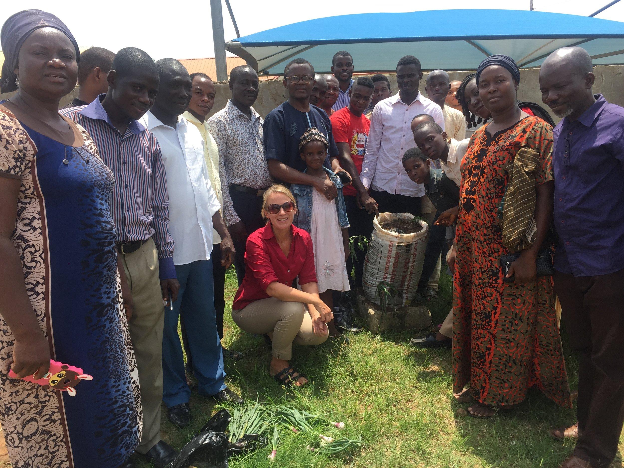Sack garden workshop Abuja