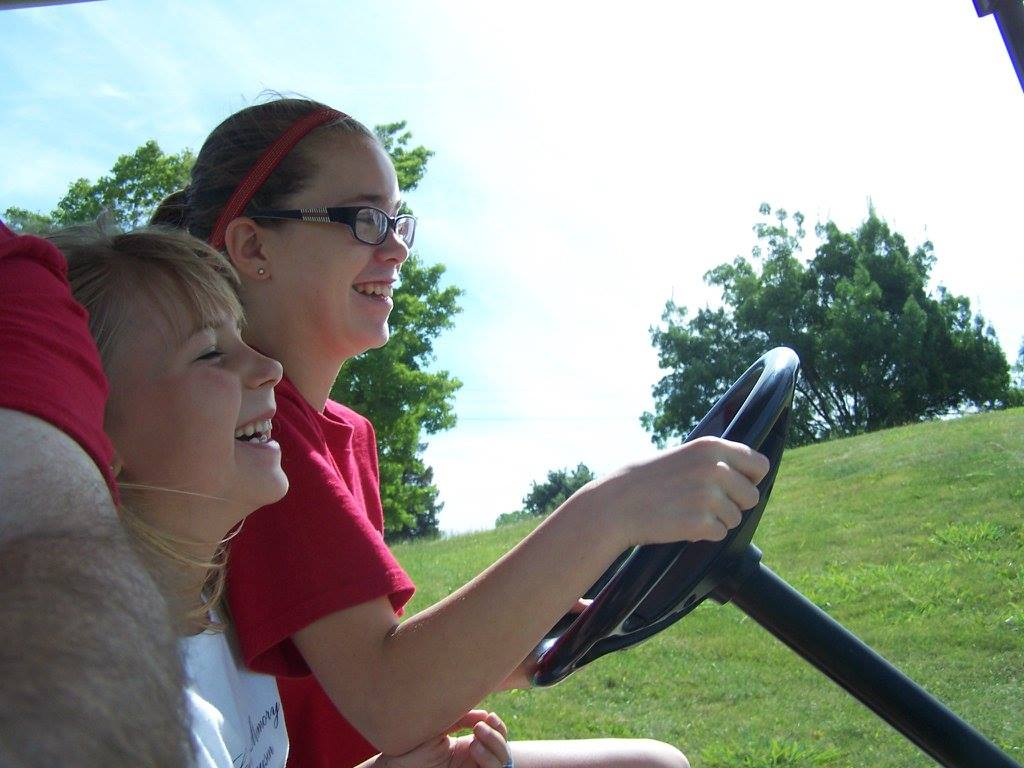 Fun on the Golf cart.jpg