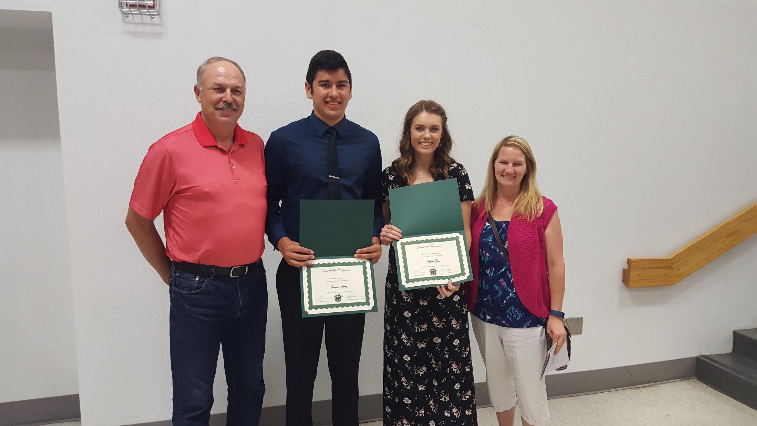 2017 Liberty Ranch High School recipients