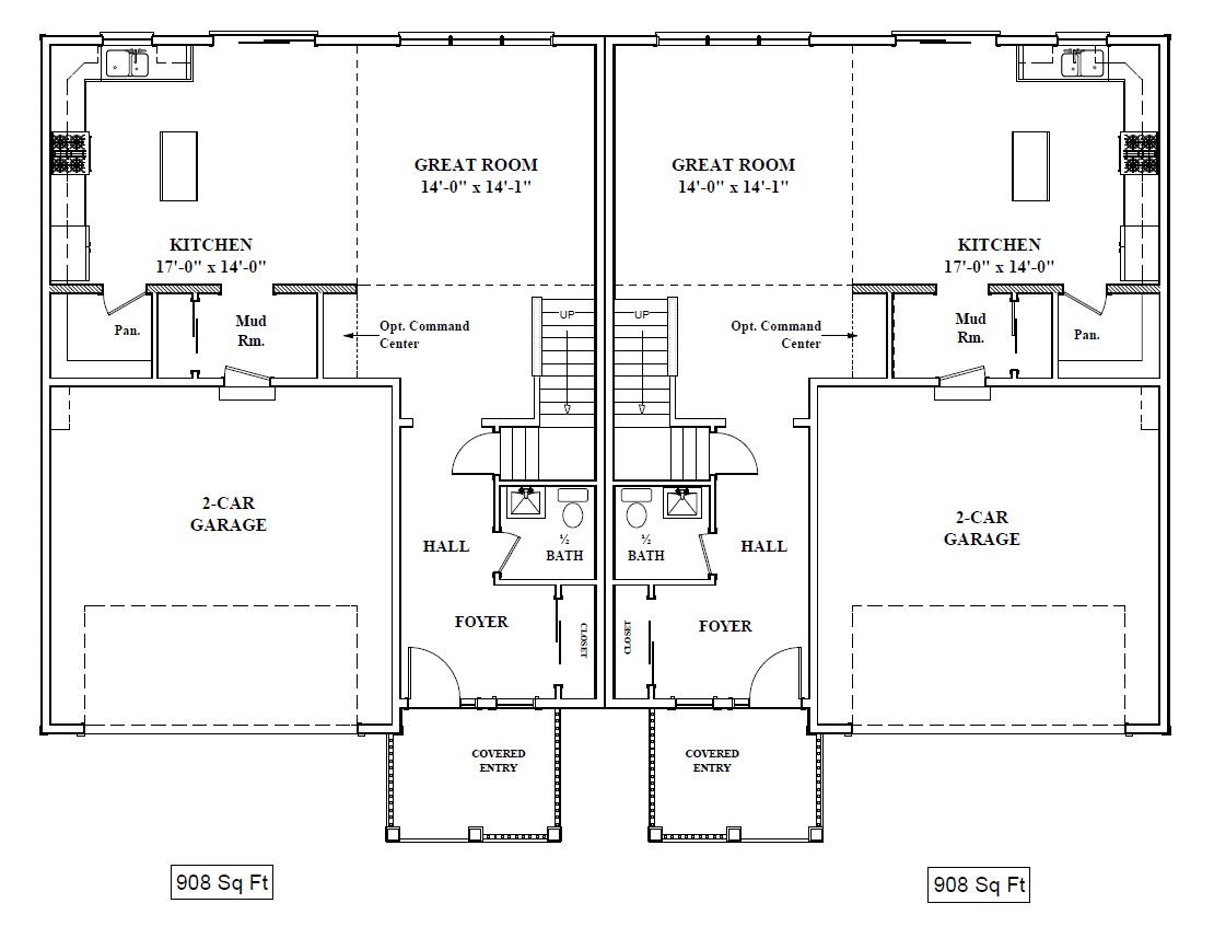 1st Floor Layout (980 sq. feet)