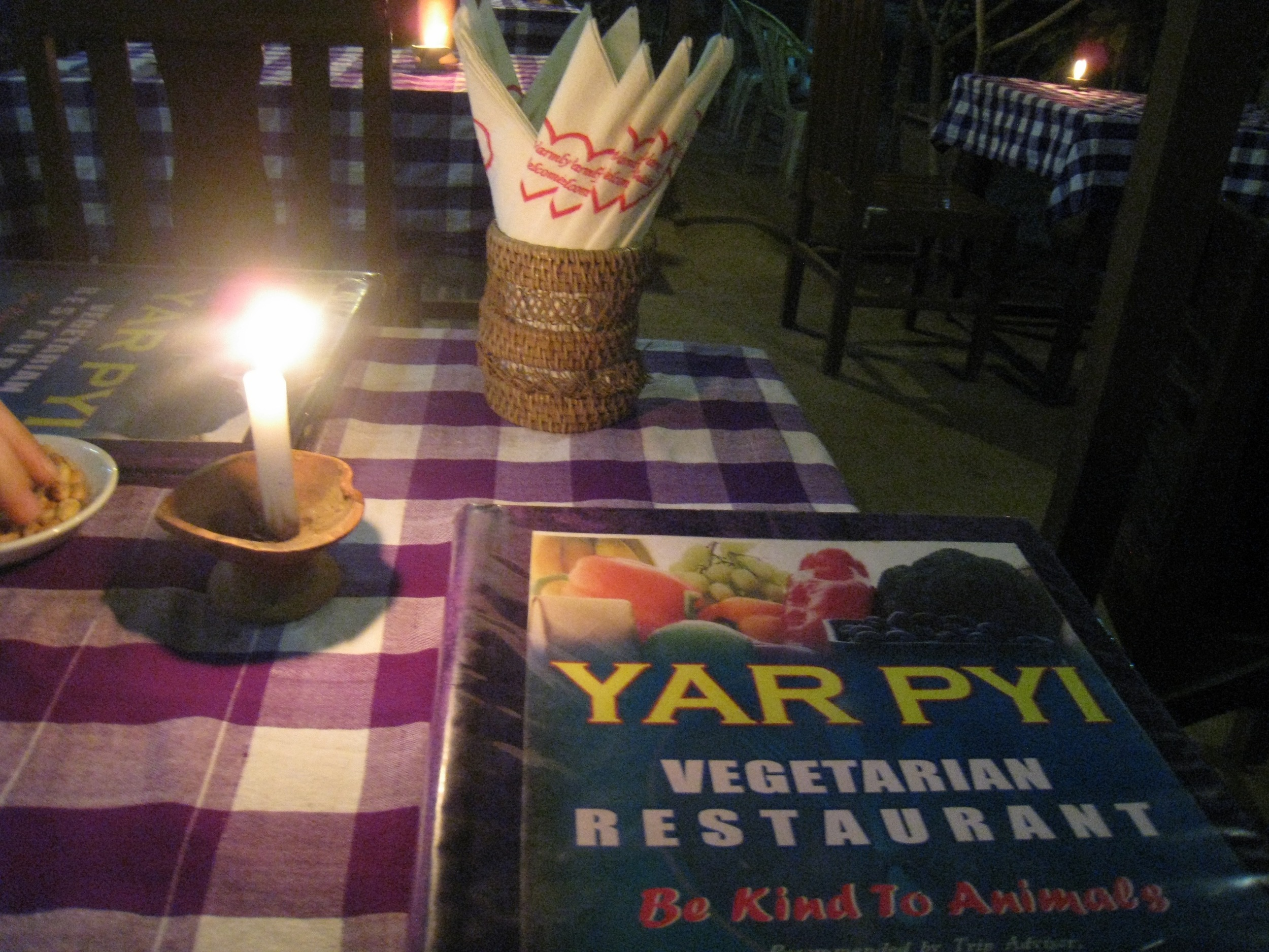 A FAMILY OWNED 'BE NICE TO ANIMALS'RESTAURANT: YAR PYI