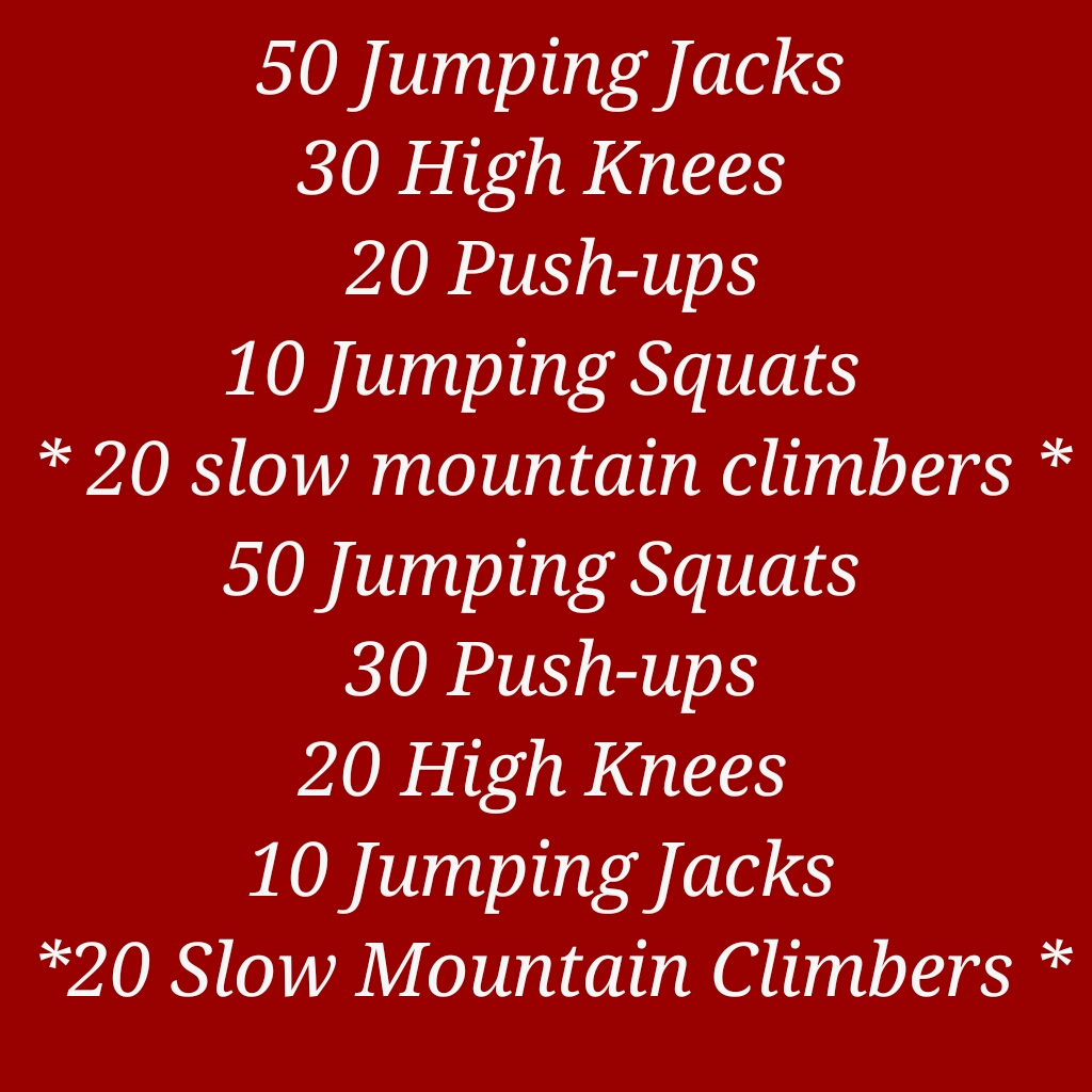 TRY THIS CIRCUIT ROUTINE OUT