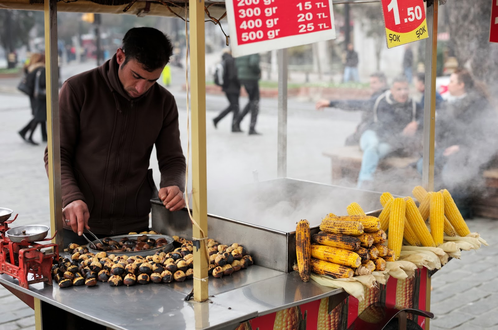 ROASTED CHESTNUTS AND ROASTED CORN (PHOTO COURTESY OF GLOBAL GOOD FOOD)