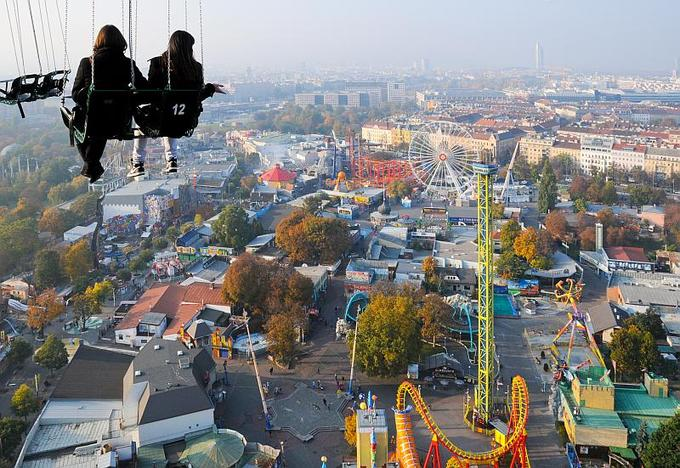 RIDING ON THE START FLYER AT PRATER (COURTESY OF PRATER.AT)