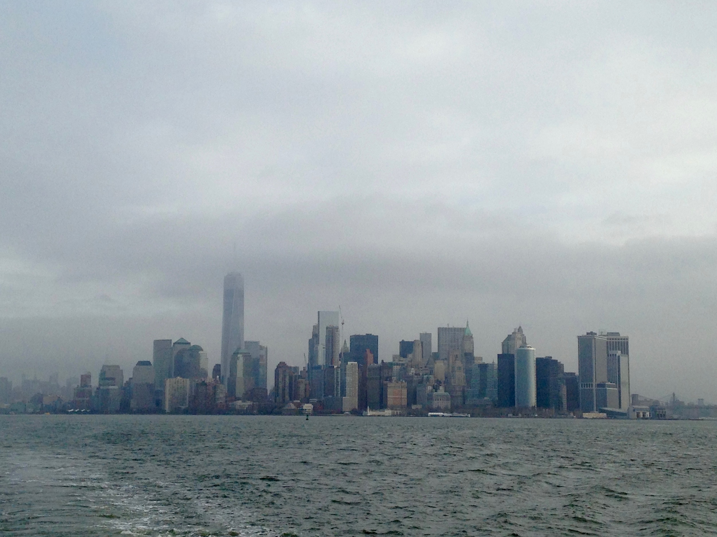 A VIEW OF NYC FROM LIBERTY ISLAND