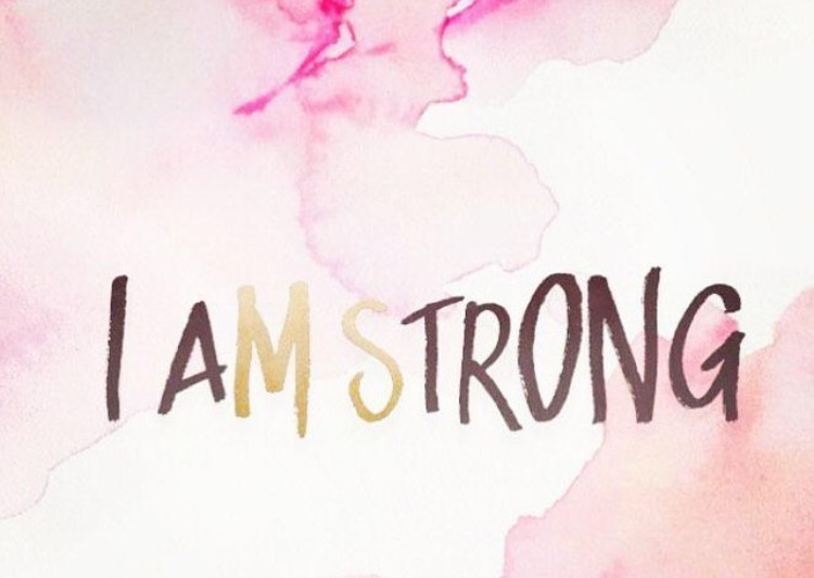 YOU ARE STRONGER THAN YOU KNOW. GIVE YOURSELF THE RIGHT TO BE STRONG.