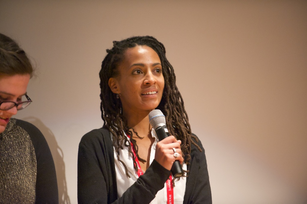 Kamilah Willingham at a Q&A following a screening of The Hunting Ground at the 2015 Sundance Film Festival