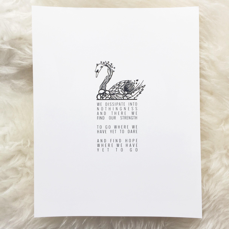 SWAN PRINT | 8x10 | $12