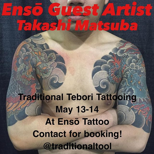 We are happy to announce the homie @traditionaltool will be back in Columbus making awesome traditional tebori (hand poke) tattoos. Please contact Takashi directly for appointments, the spots go fast!! #japanesetattoo #japanesetattoos #tebori #enso #ensotattoo #ensoartscollective #columbustattoos #columbusart #asseenincolumbus #columbustattooers #columbus #cbus #shortnorth #ohio #614 #tattoo