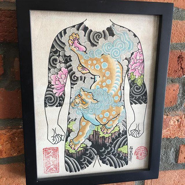 #bodysuit #shishi #botan #painting by ensō artist @kevinstress  #kevinstress #応力#kevinstresstattoo #japanesetattoos #japanesetattoo #irezumi #columbusirezumi #enso #ensotattoo #ensoartscollective #columbustattoos #columbusart #asseenincolumbus #columbus #cbus #shortnorth #ohio #614 #tattoo