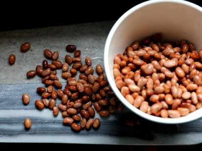 Soaking pulses to reduce the gas-producing carbohydrate content.