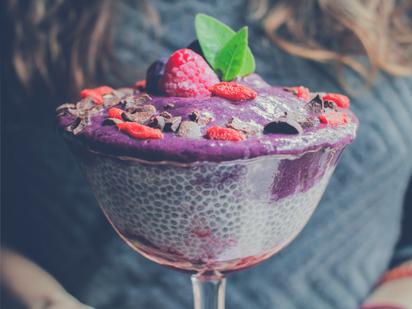 Chia pudding - a source of soluble fibre (photo by Sebastián LP )
