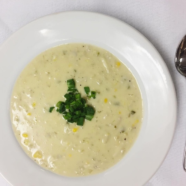 CRAB & CORN BISQUE  Louisiana crab and fresh corn  $20/4 servings