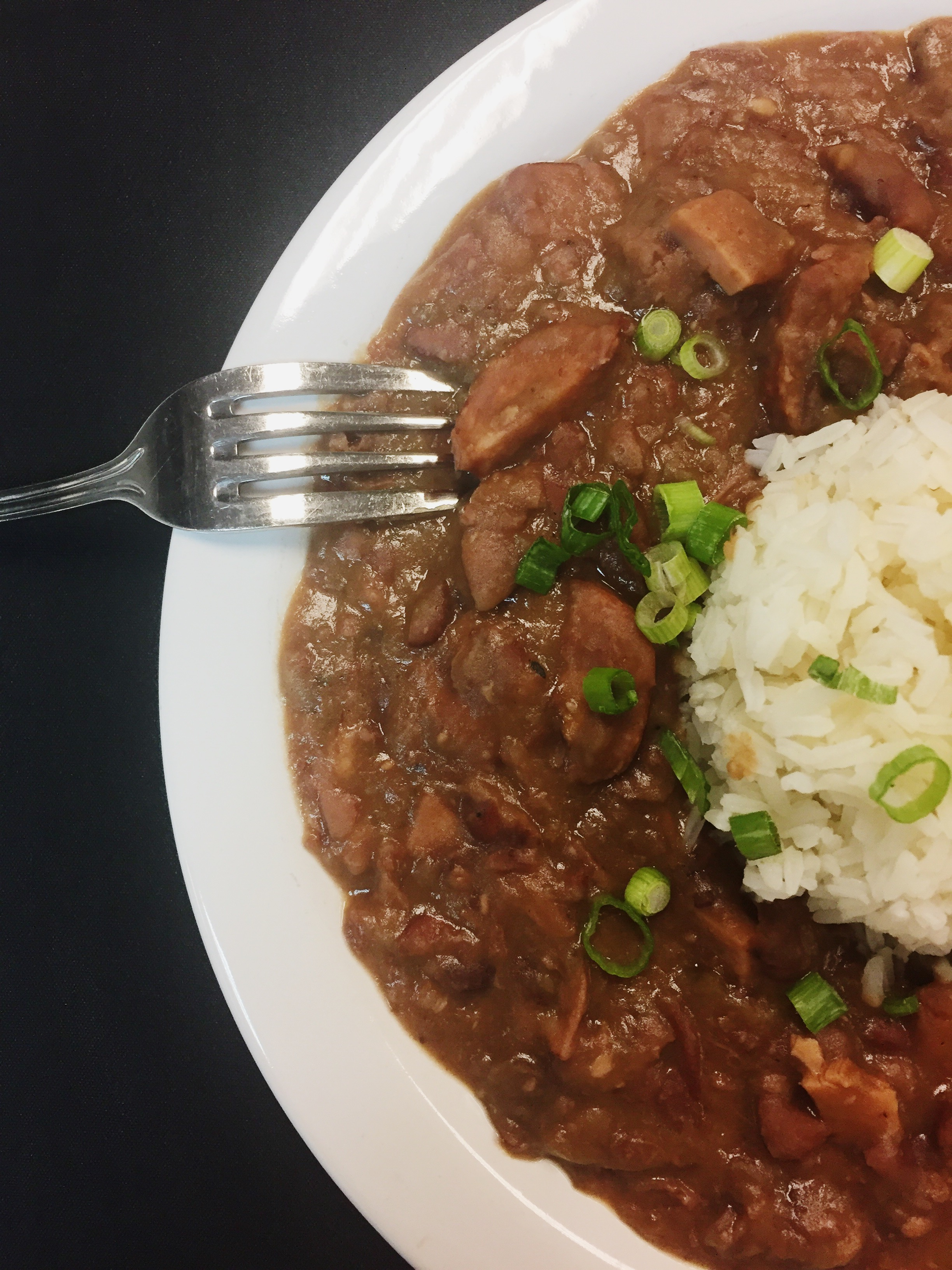 RED BEANS & RICE  Slow-cooked with hamhock, griddled Andouille, popcorn rice  $36/4-6 servings