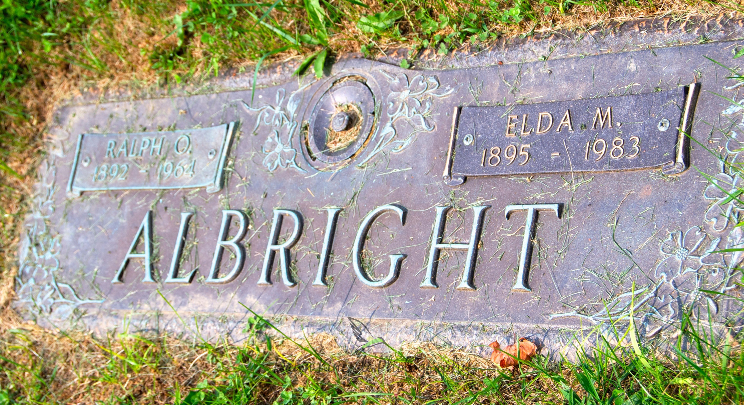 The grave marker of my maternal grandparents in Altoona, PA.