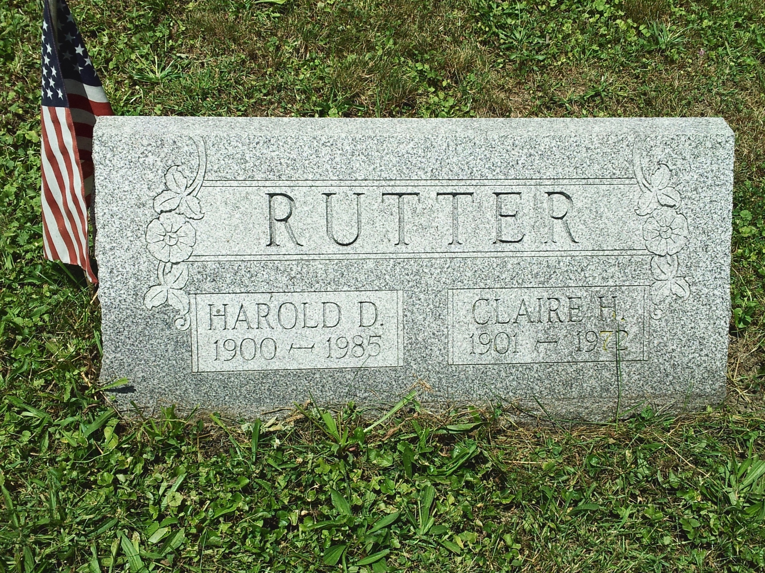 Headstone of my paternal grandparents. Photo credit goes to my cousin Michelle. Thank you!